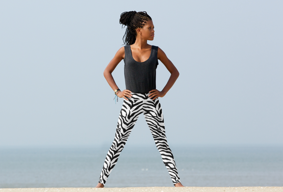 zebra print leggings will lift your spirits