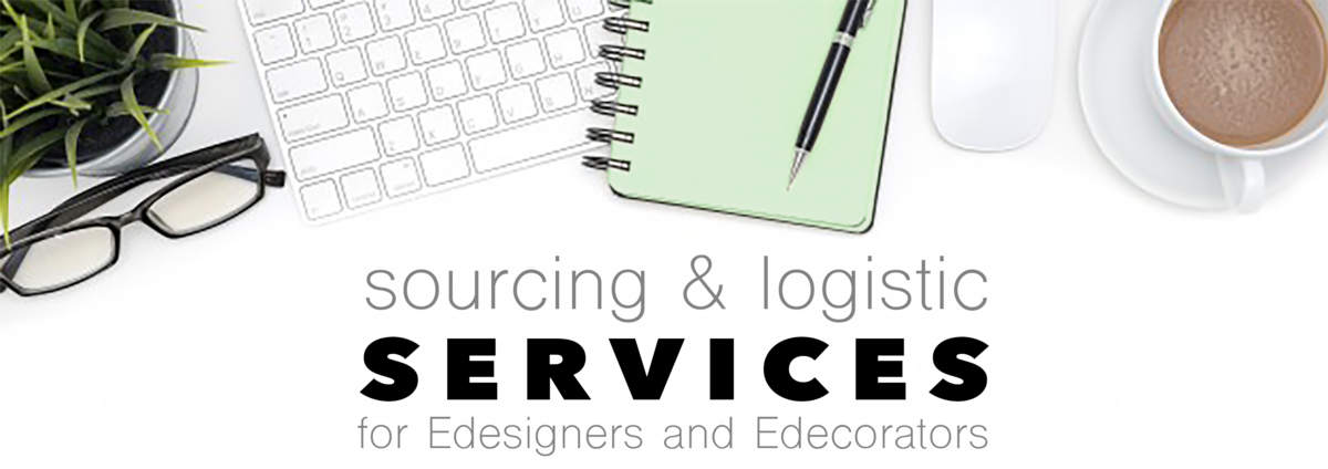 Sourcing & logistic services for E-designers and E-decorators
