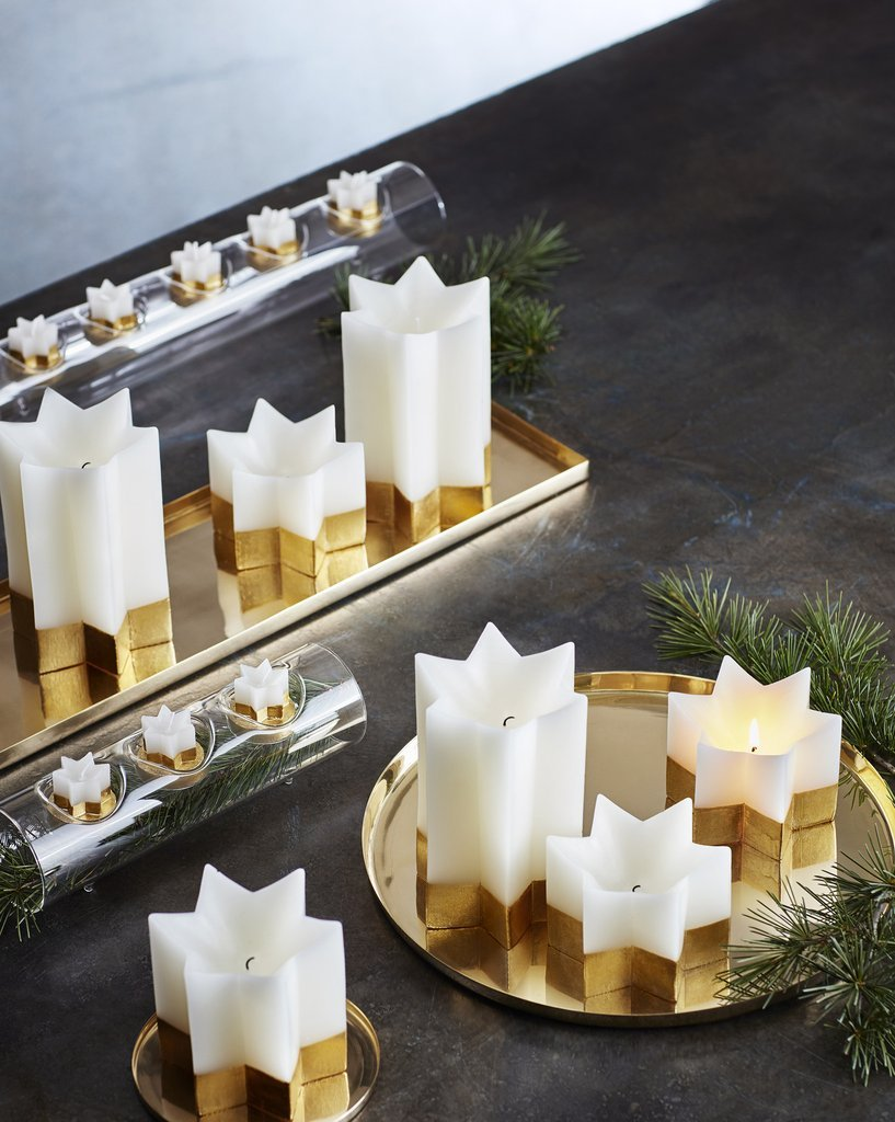 Gold clustered star candles