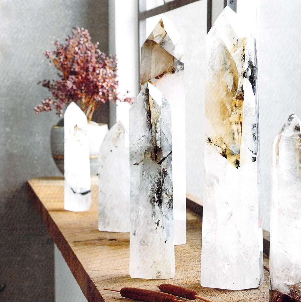quartz crystal decoration