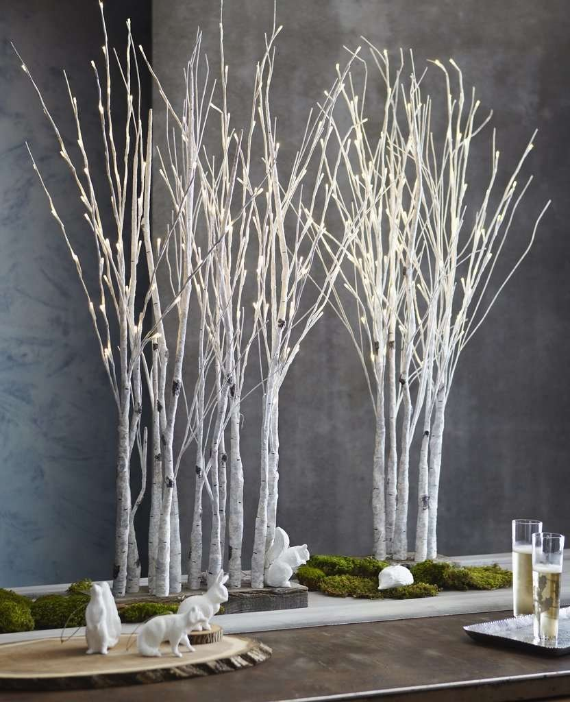 lighted holiday modern tabletop trees