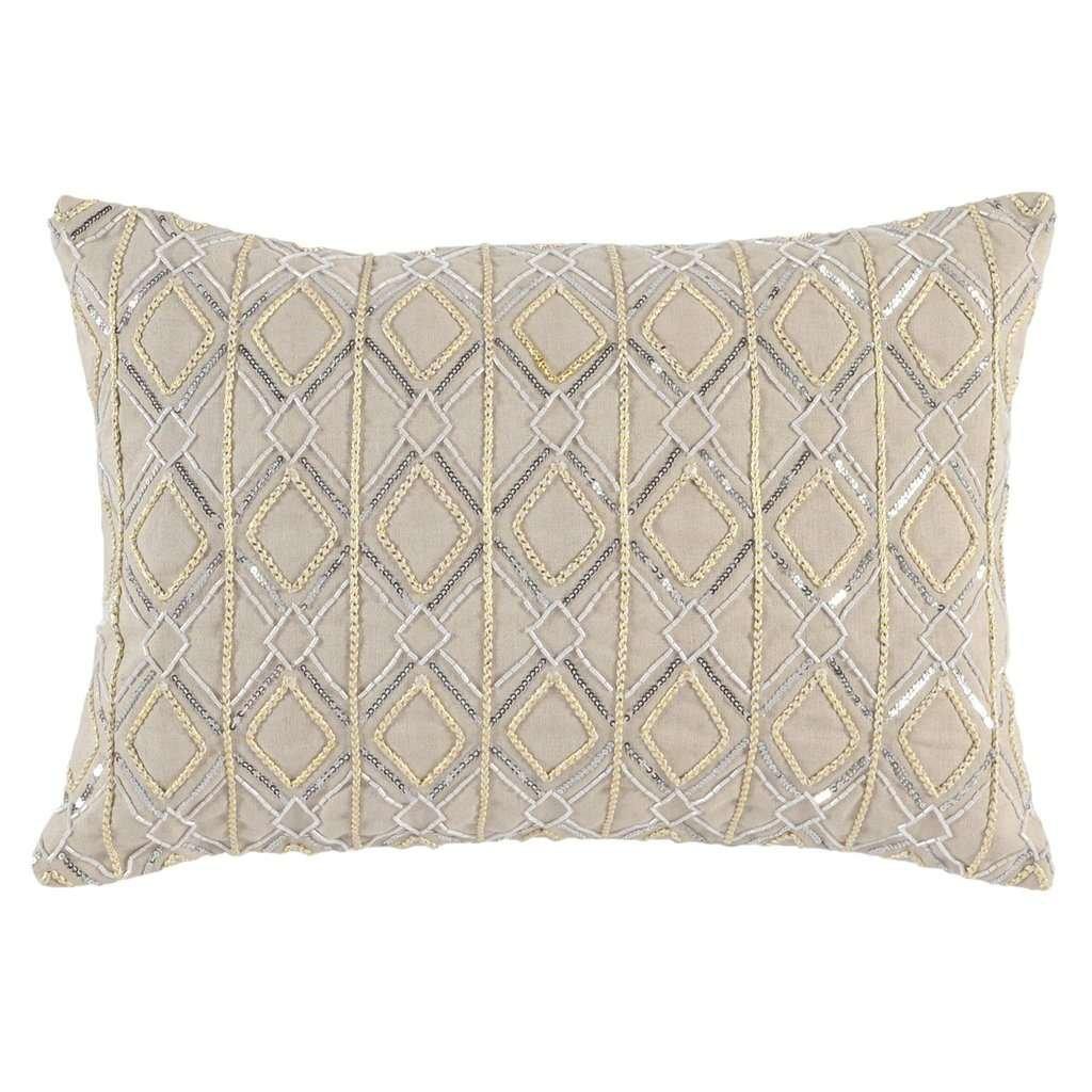 modern metallic pillows