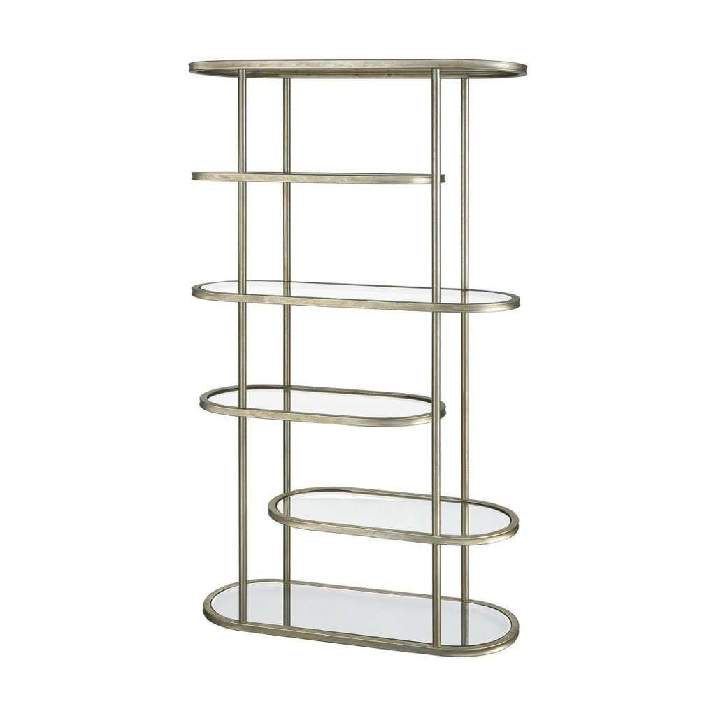 metal and glass asymmetrical shelf