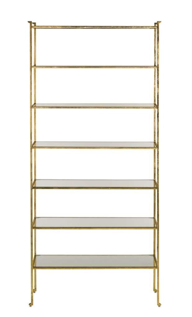 modern gold etagere