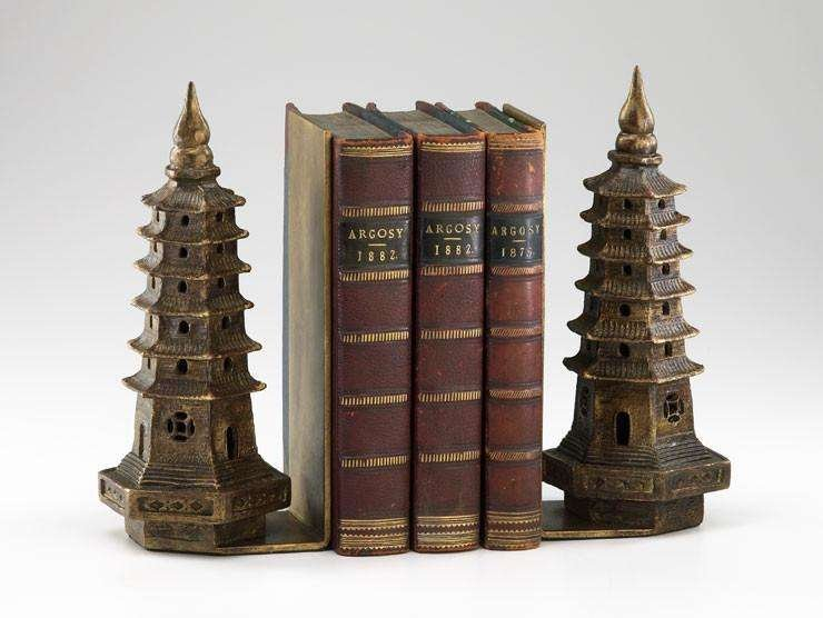 rustic pagoda bookends