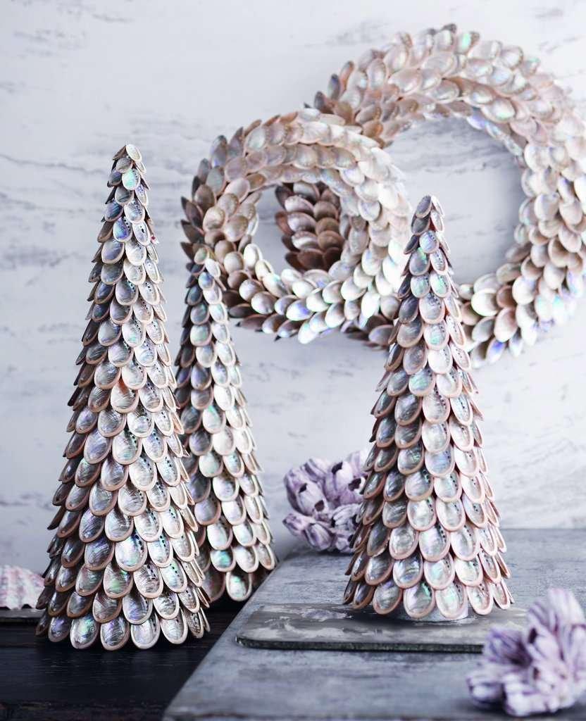modern abalone shell wreaths