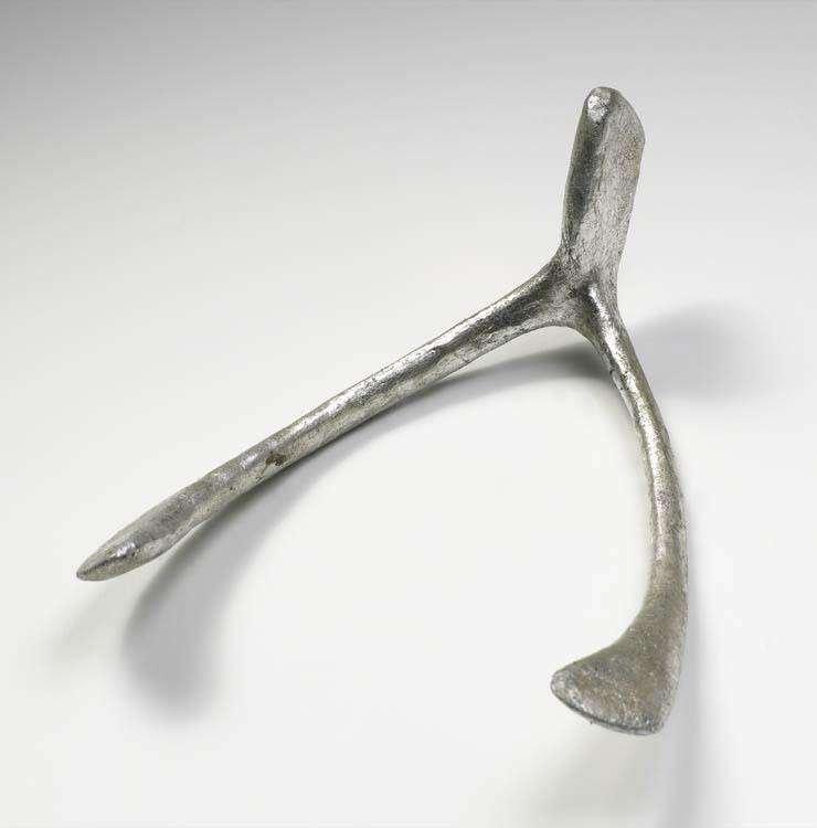 silver decorative wishbone