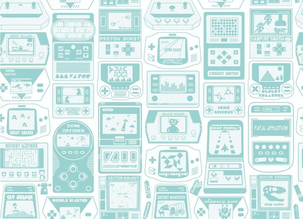 turquoise wallpaper video games retro