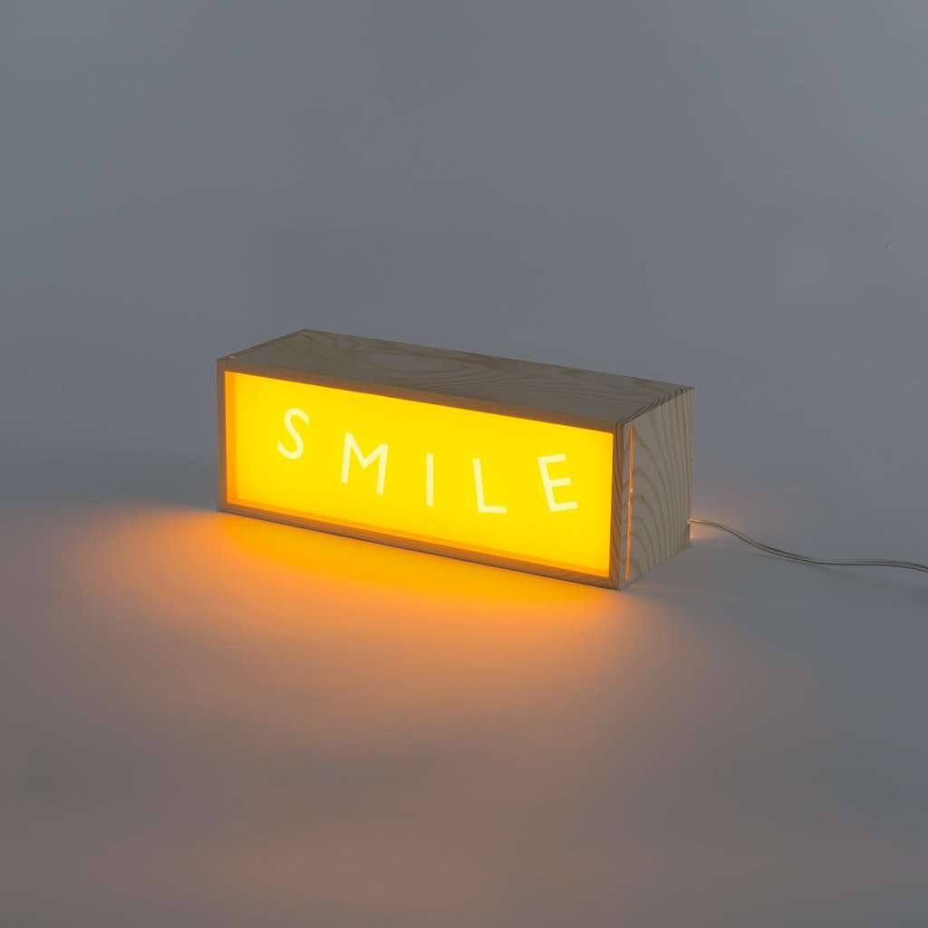 modern light box smile