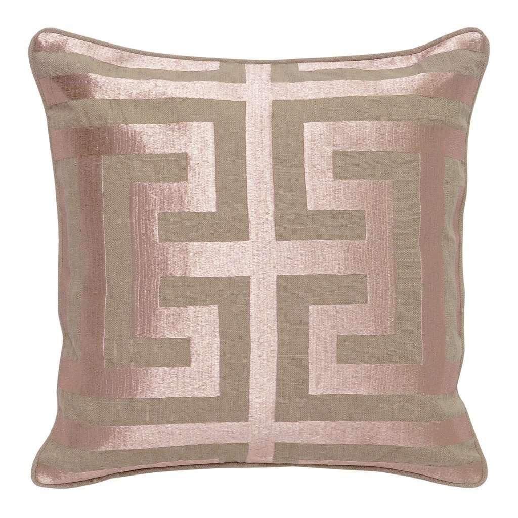 modern metallic pillow
