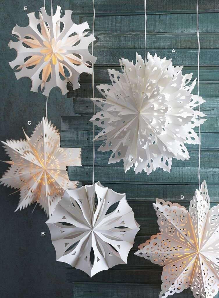lighted snowflake pendant