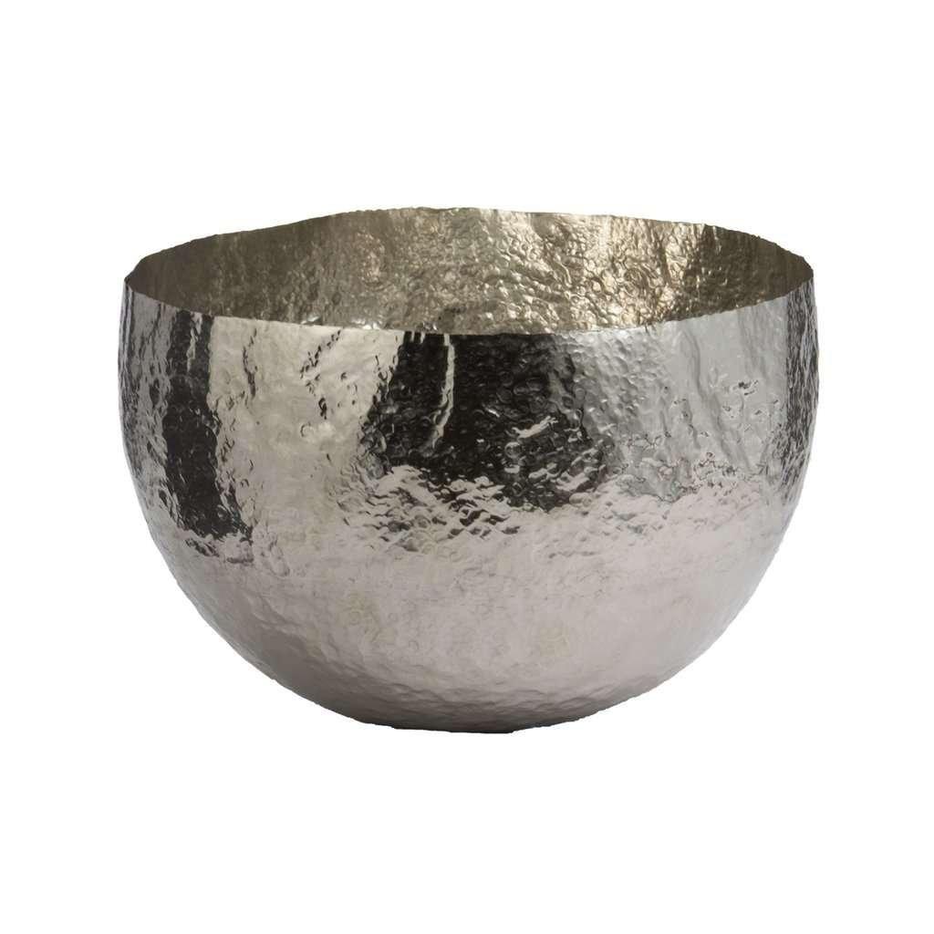 hammered metallic decorative bowl