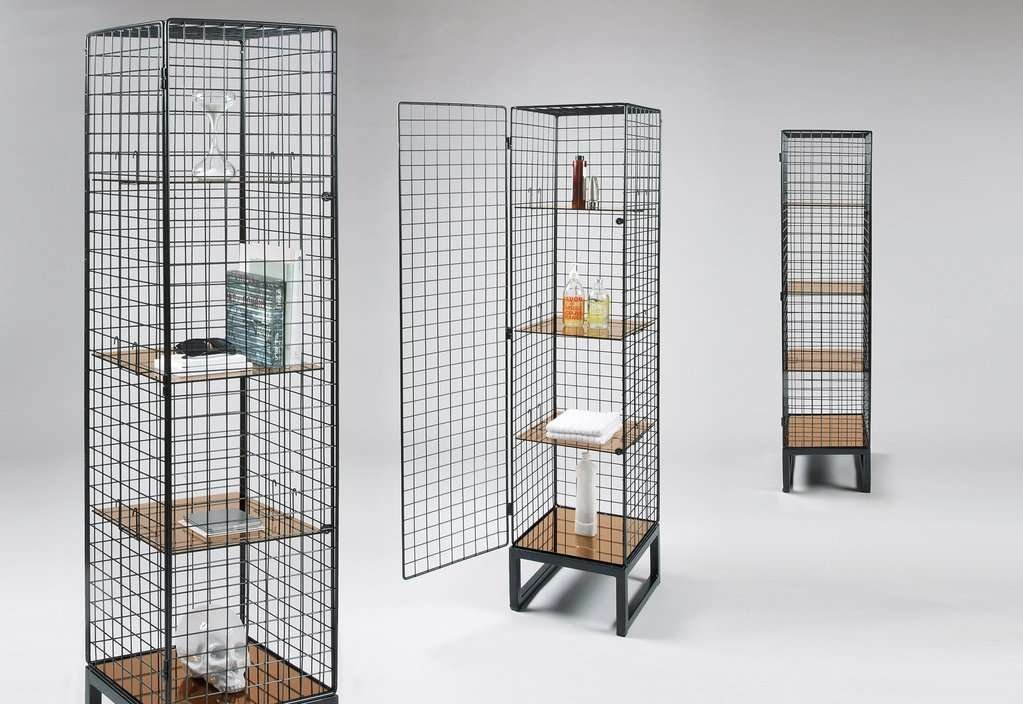 tall mesh metal cabinets