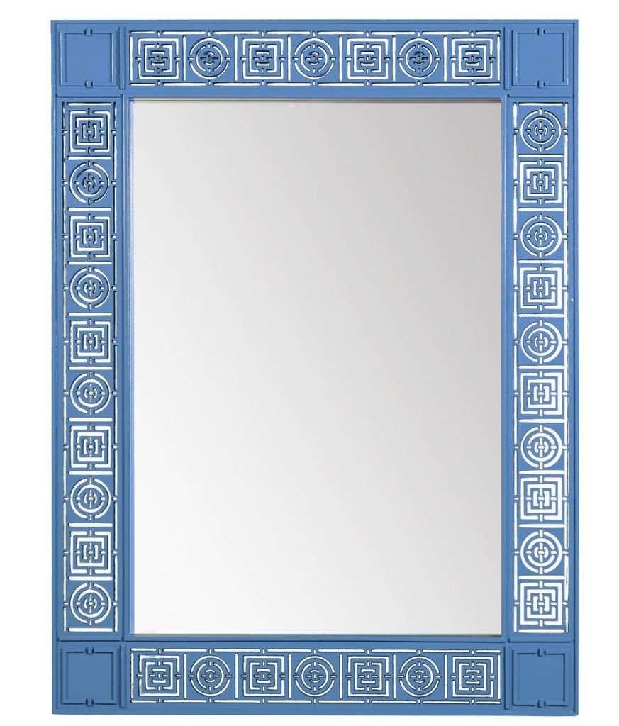 Mayfair blue modern mirror