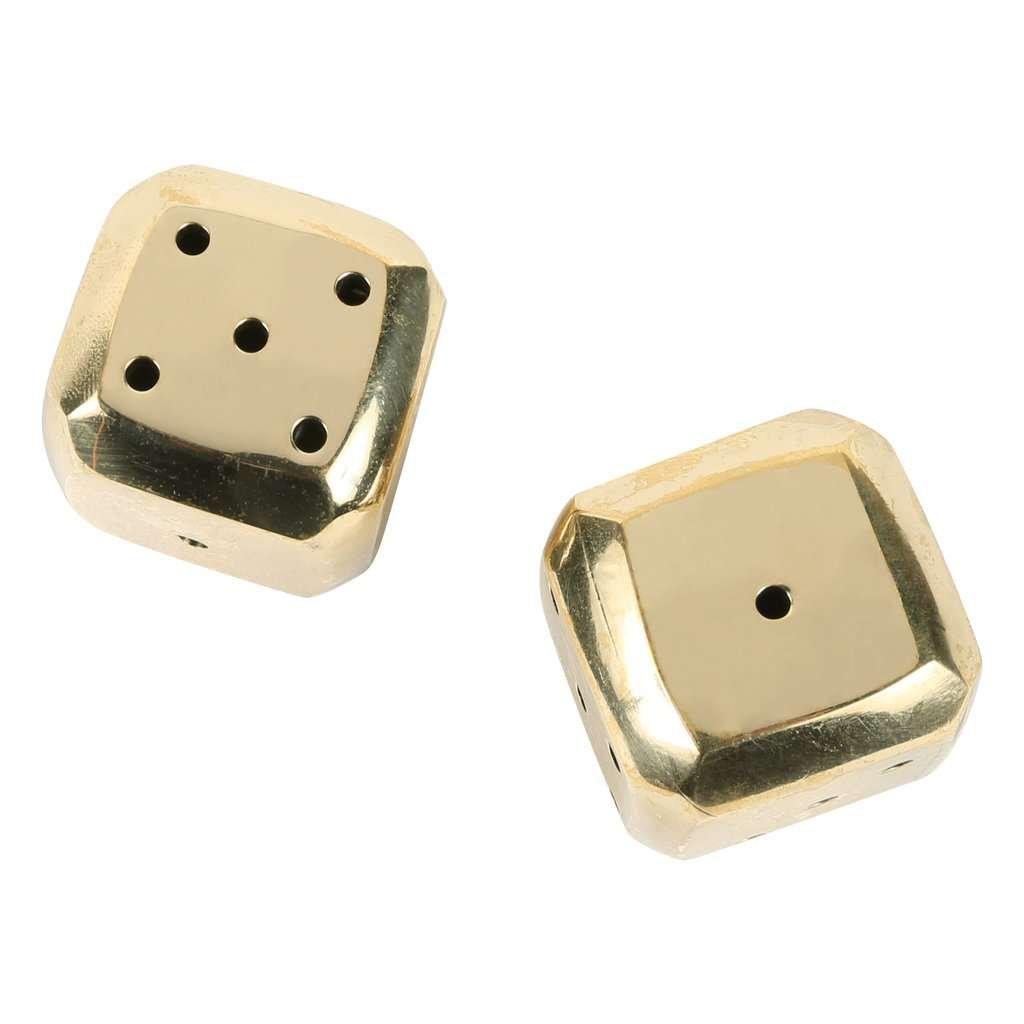 brass dice decoration
