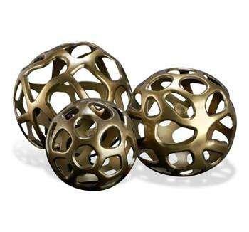 bronze decorative sphere