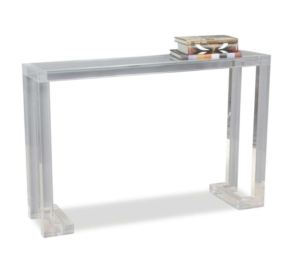 modern acrylic console