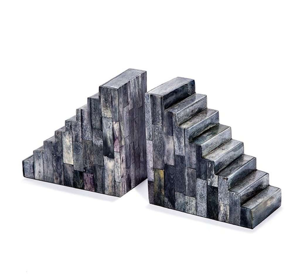 stone pyramid modern bookend