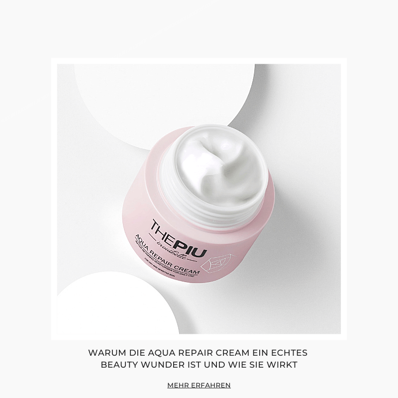 Koreanische Kosmetik - die Aqua Repair Cream von The Piu im Test