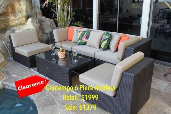 Contempo 6 Piece Armless