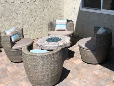 Cocoon Outdoor Wicker Chat Set