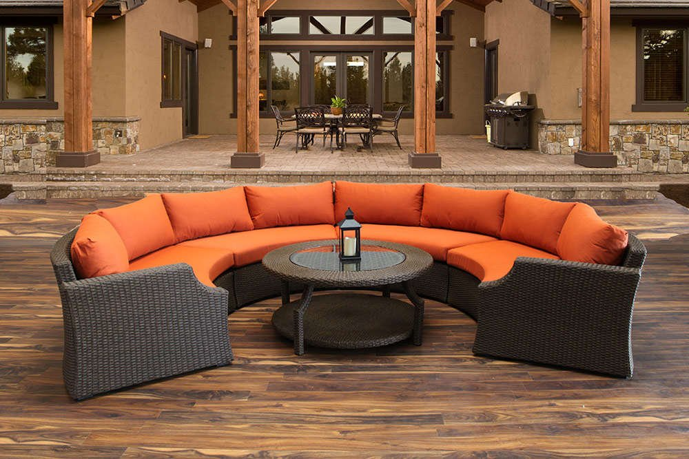 Hampton Patio Round Sofa Set