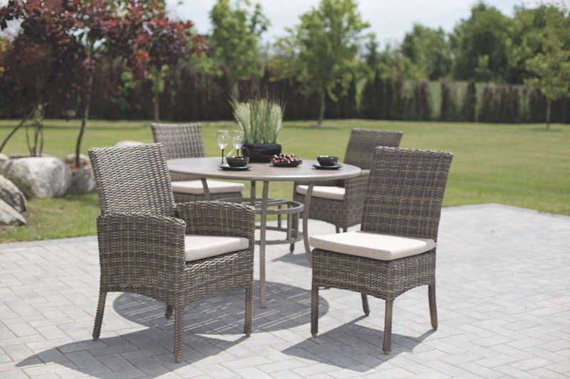 Princeville Outdoor Round Wicker Dining Set