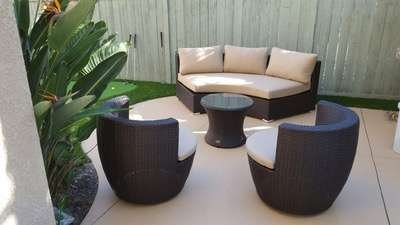 Outdoor Patio Round Wicker Set