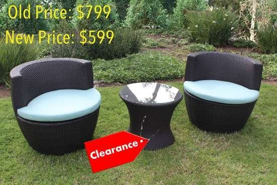 Cocoon Round 3 Piece Wicker Set