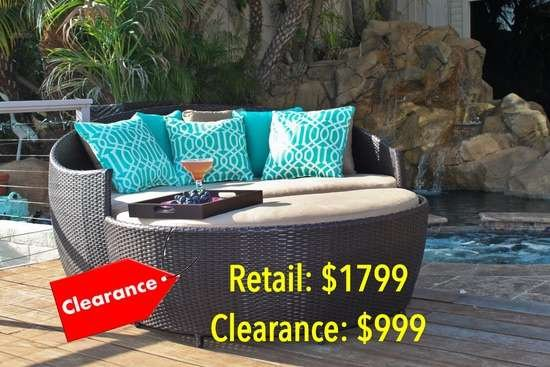 Patio Round Daybed Wicker