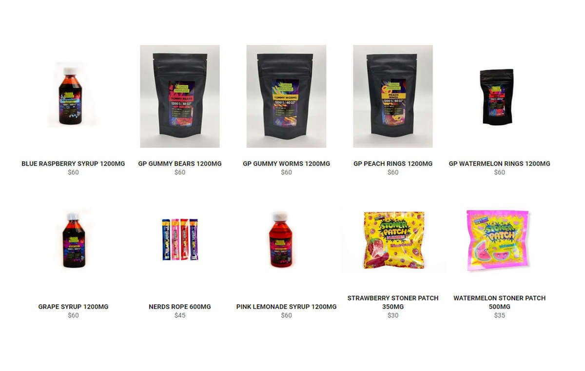 View all edibles available for weed delivery
