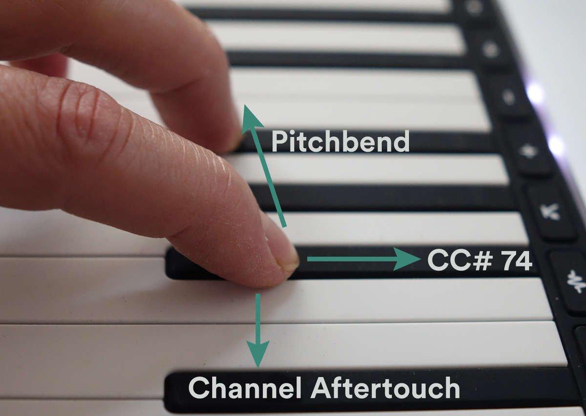 Sensel Morph piano overlay
