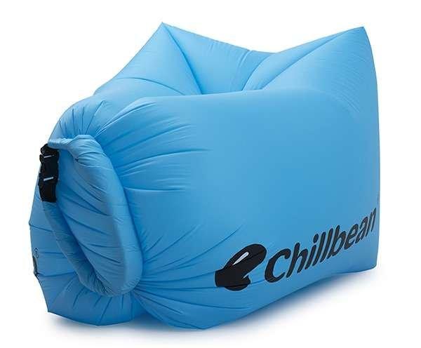 Chillbean Air uppblåsbar soffa sky blue framsida