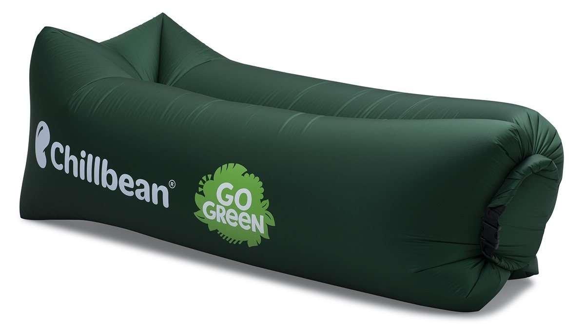 Chillbean Air skräddarsydd uppblåsbar soffa för GoGreen