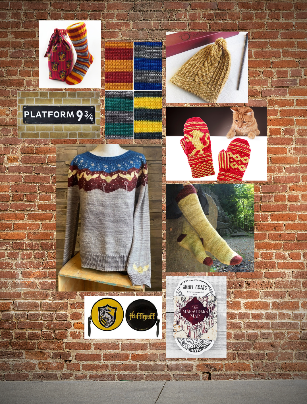 Harry potter yarns, patterns, knitting kits and products
