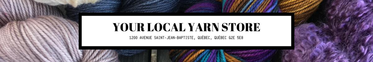 Boutique de laine tricot crochet Quebec G2E 5E8