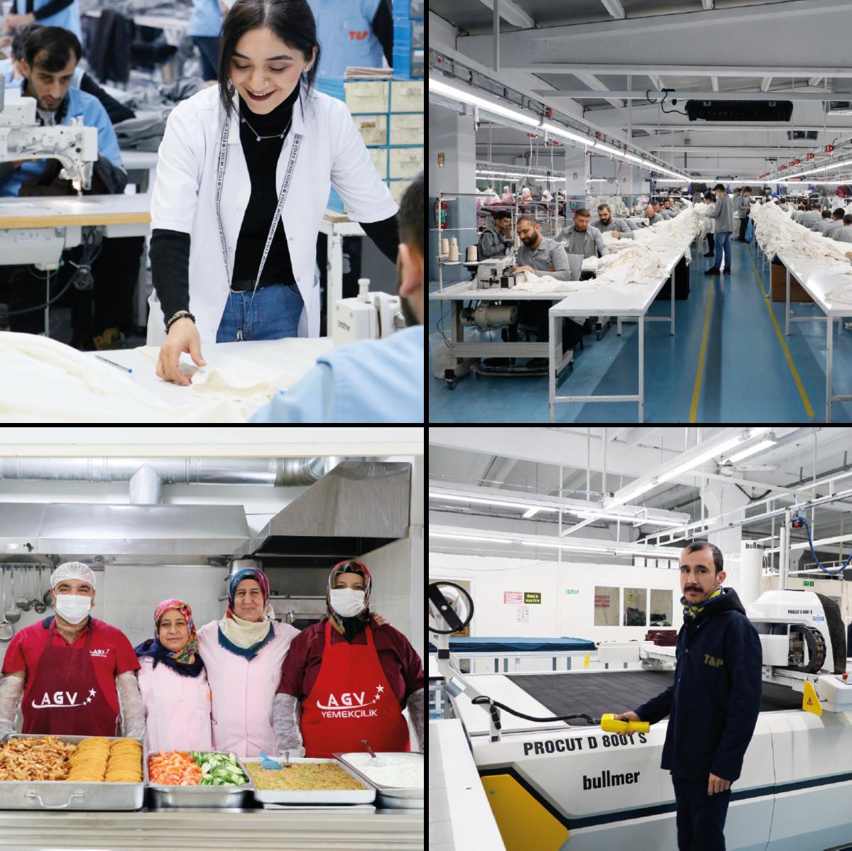 Mitarbeiter in der Produktionsstätte der Türkei