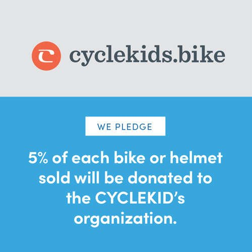 cyclekids.bike | We Pledge 5% of each bike or helmet sold will be donated to the CYCLEKids organization.