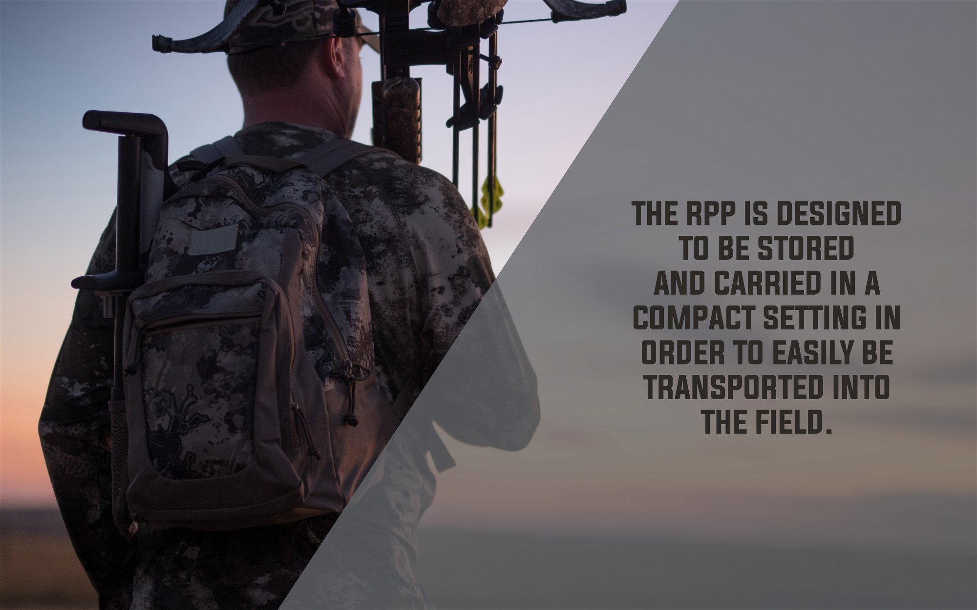 The RPP is designed to be stored and carried in a compact setting in order to easily be transported into the field.