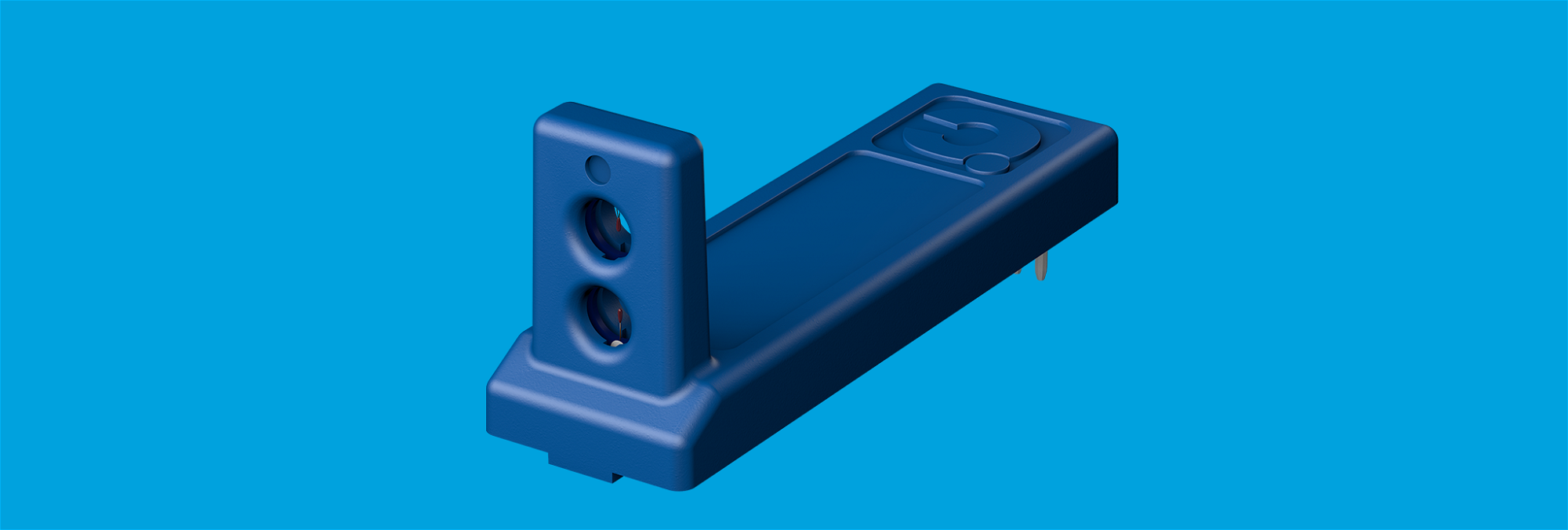 Horizontal airflow sensor for low-profile mounting on PCB and PCBA.