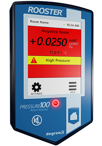 Air pressure monitor with alarm capability.