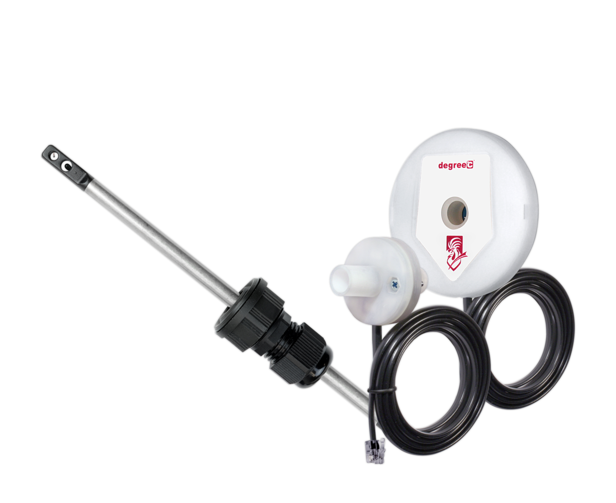 Grossing hood air velocity alarm allows for ease of integration into existing equipment.