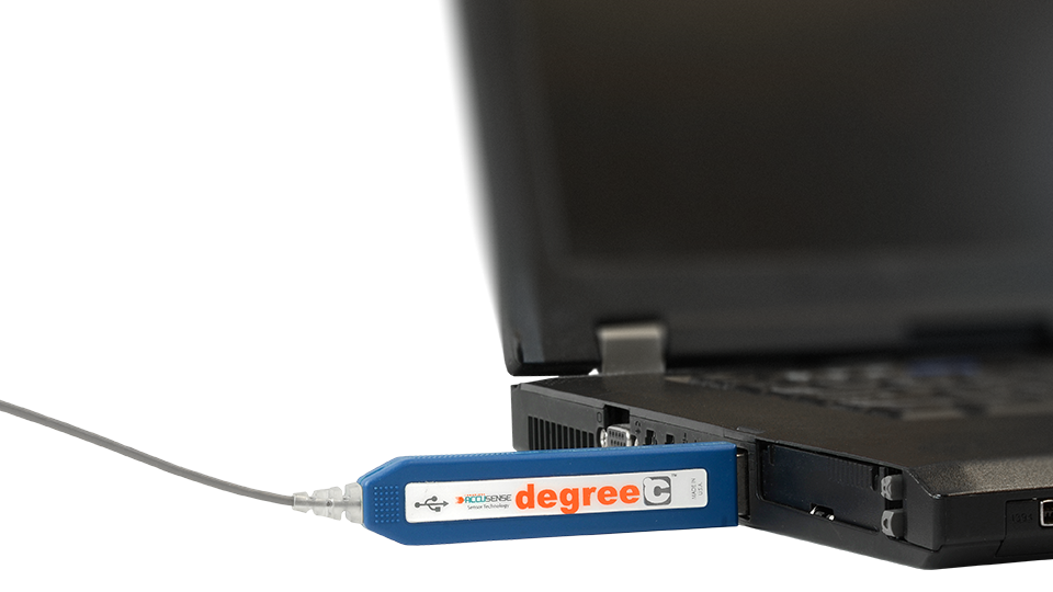 Data from the hot element anemometer is sent to a data acquisition instrument through a USB output for easy, fast analysis.