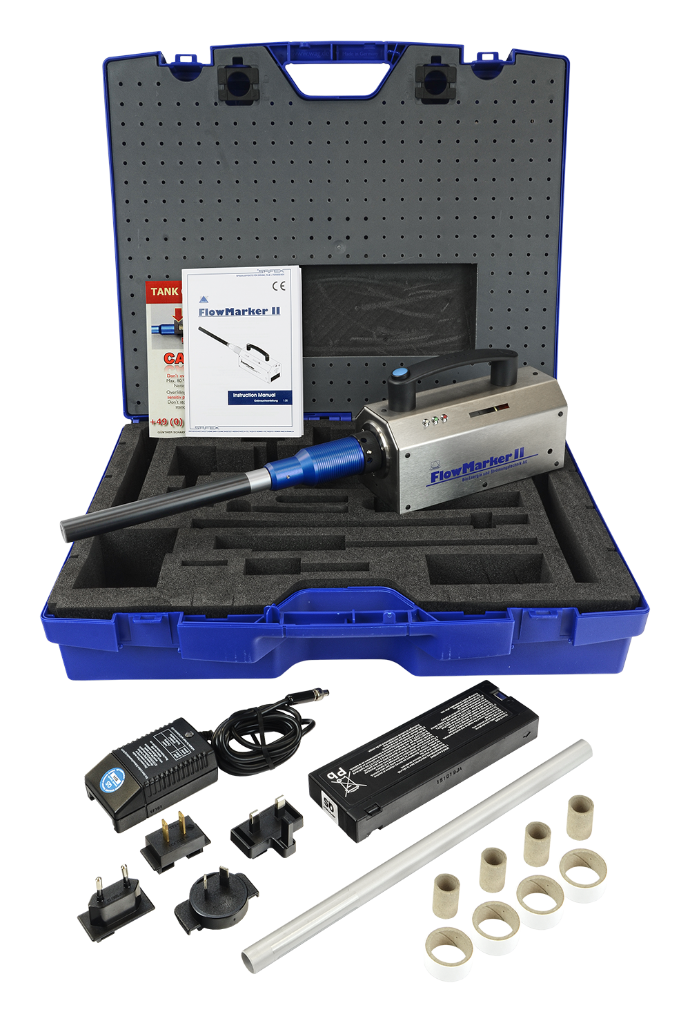 FlowMarker smoke generator wand kit with everything you need to get started with smoke wand tests.