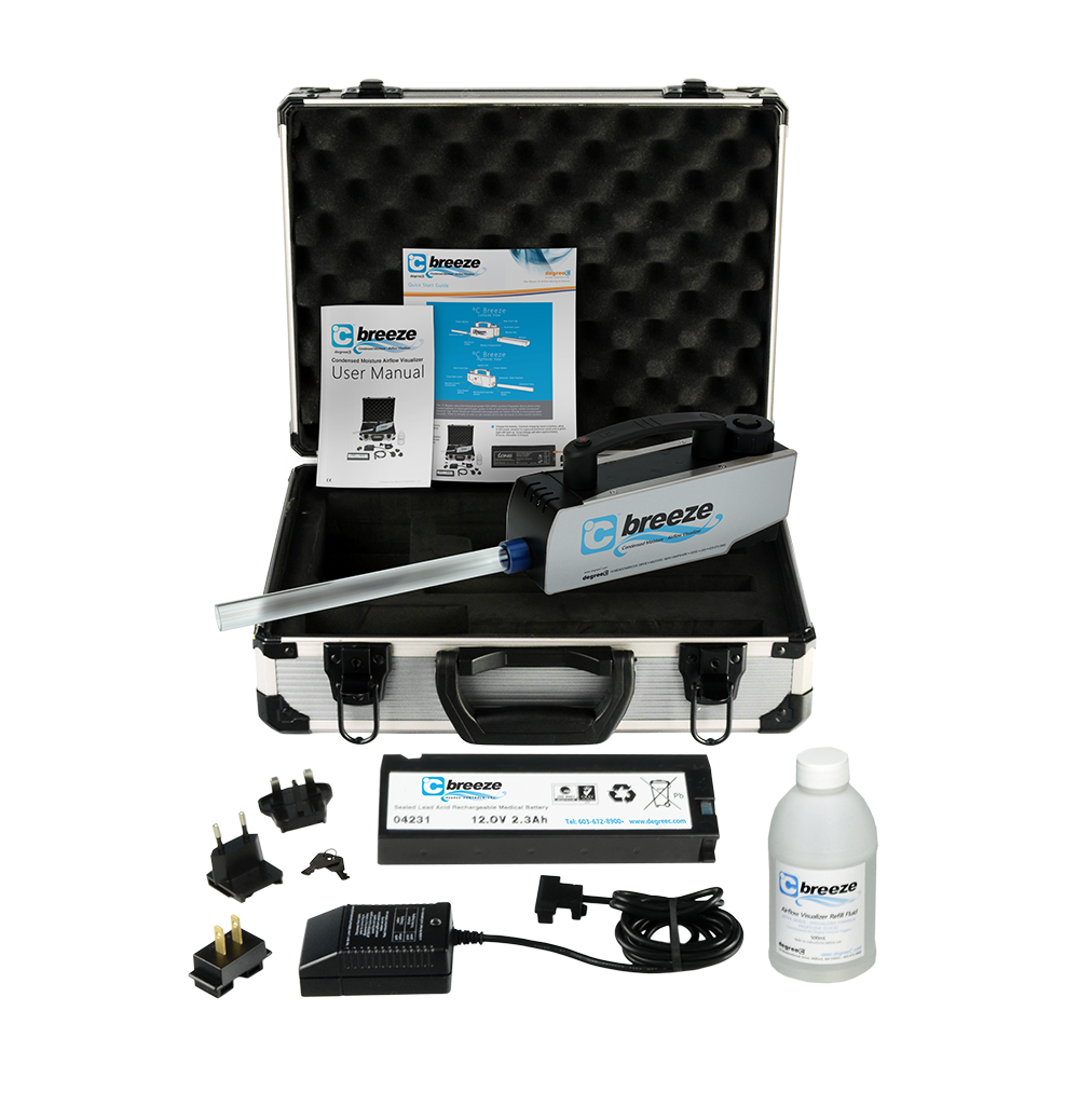 C Breeze smoke generator wand kit comes with everything you need for smoke wand testing.