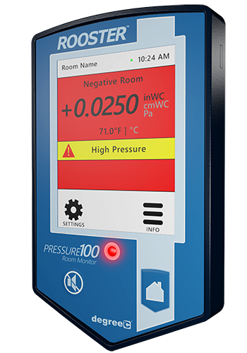 Air pressure monitor with real-time status indication.