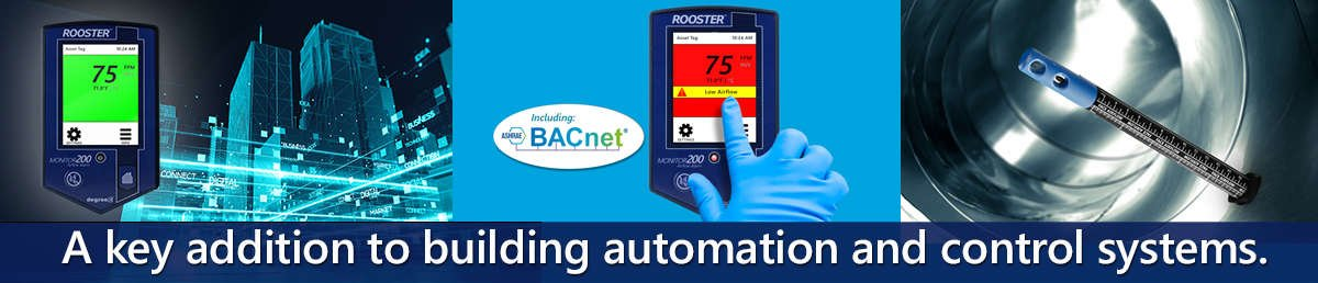 BACnet controlled HVAC monitor for critical containment applications where airflow is to be monitored, alarmed, and communicated to building management systems (BMS).