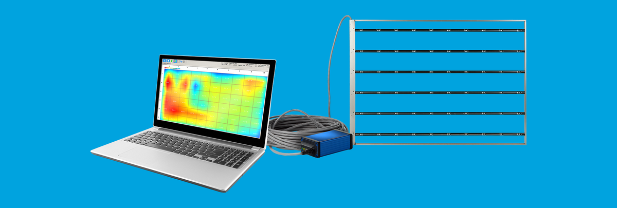 Multi-scalar airflow measurement system for air velocity, ambient temperature, and humidity.