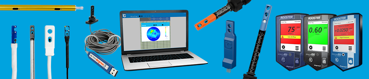 Hot element anemometer with intelligent capabilities such as linking to a data acquisition instrument for real-time analysis, data logging and reporting that includes compelling graphs.