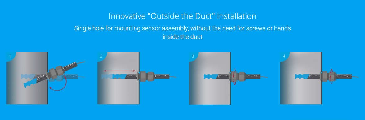 Air flow direction sensors like this non-directional switches can sense flow from either direction.